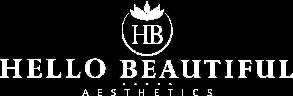 Hello Beautiful Logo White